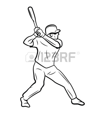 417x450 Softball Player Royalty Free Cliparts, Vectors, And Stock
