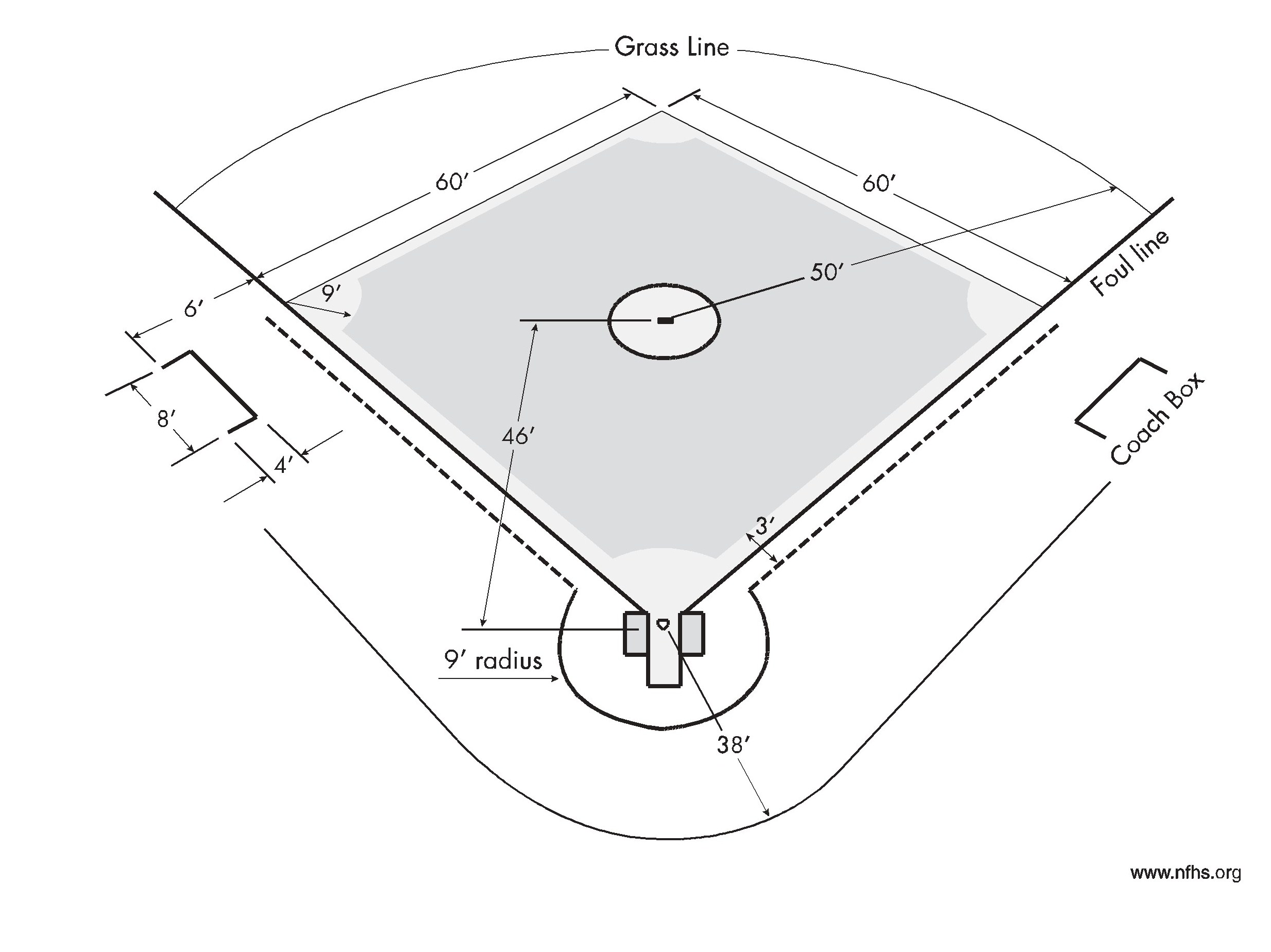 softball diamond drawing at getdrawings com free for personal use