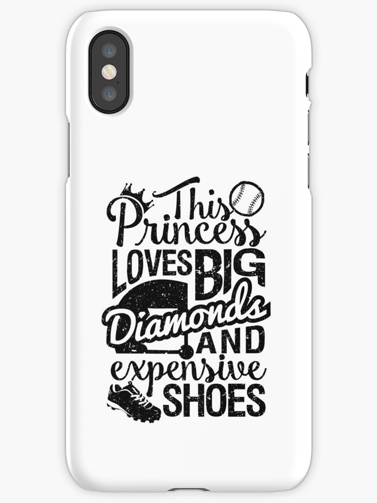 750x1000 Softball Baseball Princess Loves Diamonds Iphone Cases Amp Skins By