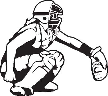 350x311 Girls Softball Catching Clipart