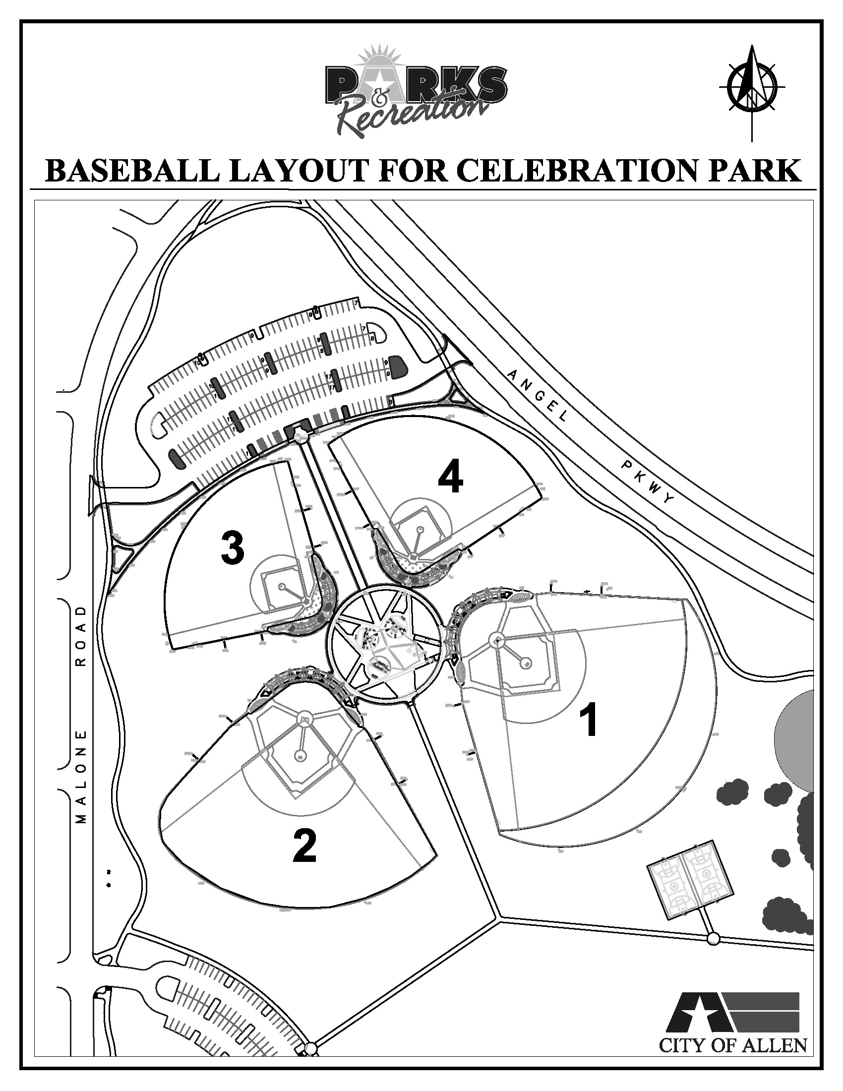 Softball Field Drawing