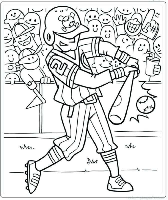 672x800 Baseball Coloring Pages To Print Preschool For Pretty Paint