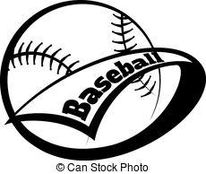 230x194 Baseball Softball Pennant. Illustration Of A Baseball