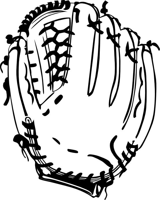 Softball Glove Drawing