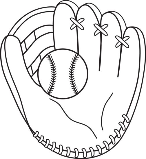 504x550 Baseball Mitt Coloring Page To Use With Casey