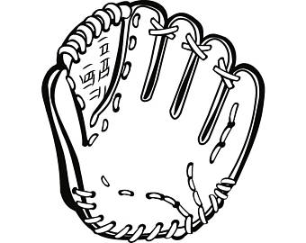 softball glove drawing at getdrawingscom free for