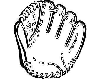 340x270 Baseball Glove Svg Etsy