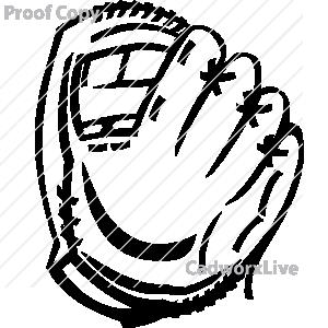 300x300 Softball Glove Clipart