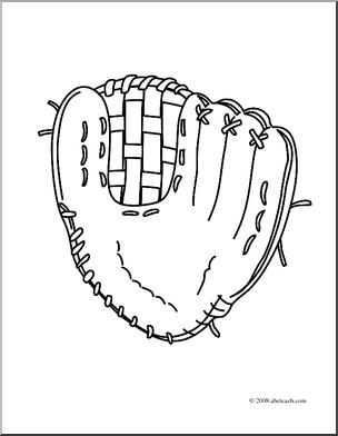 304x392 Softball Gloves Drawings