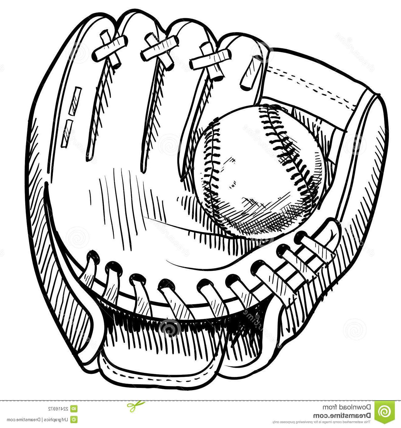 1300x1390 Top 10 Baseball Glove Drawing Cdr
