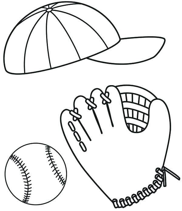 600x694 Baseball Glove Coloring Page Baseball Coloring Pages To Print