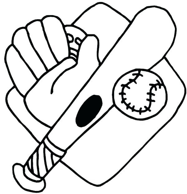600x623 Baseball Glove Coloring Page Pin Glove Coloring Page Baseball
