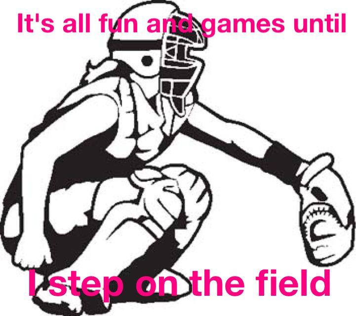 721x640 Softball Catcher Gear 8x10 Sport Poster Print Softball Catcher