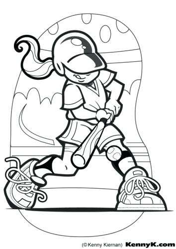 354x500 Softball Coloring Pages Page Cool On Softball Coloring Pages I