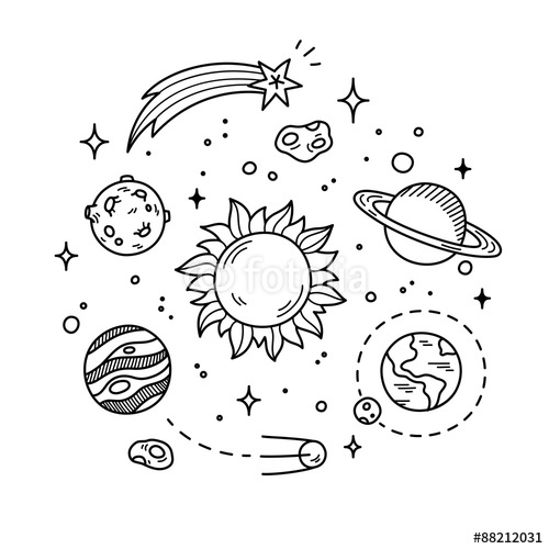 500x500 Hand Drawn Solar System Tattoo Inspiration Solar