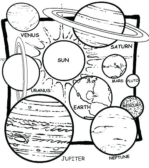 506x570 Solar System Coloring Book Plus Solar System Coloring Page Best