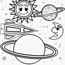 230x230 Solar Eclipse Coloring Page For Kinders