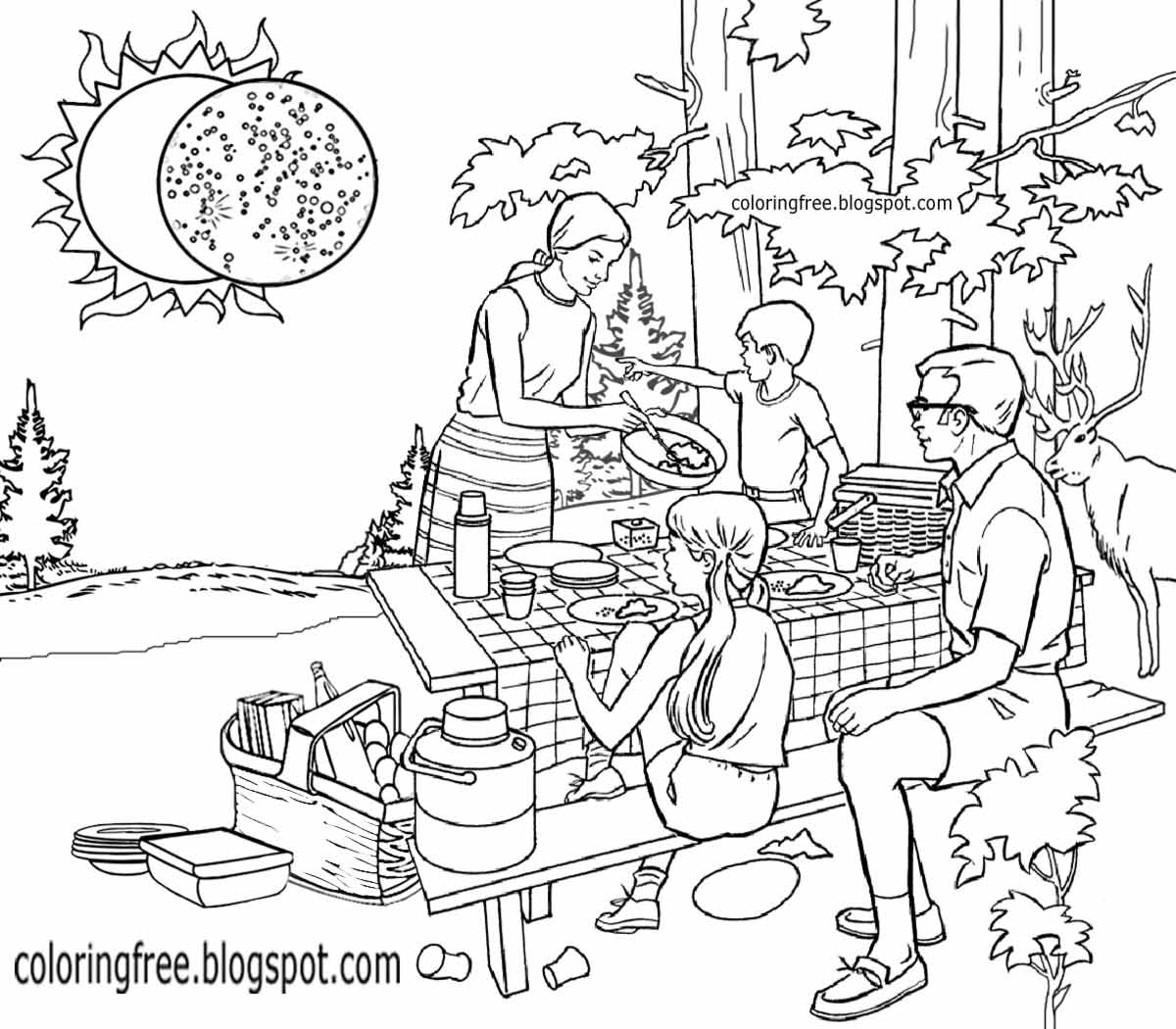 1200x1050 Solar Eclipse Free Coloring Pages