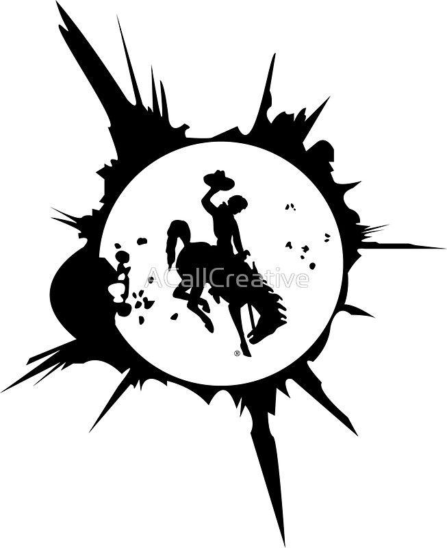 653x800 Wyoming Solar Eclipse Graphic Stickers By Acallcreative Redbubble