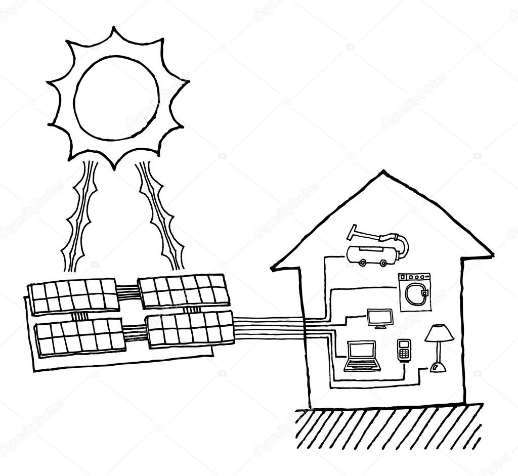solar energy drawing at getdrawings com