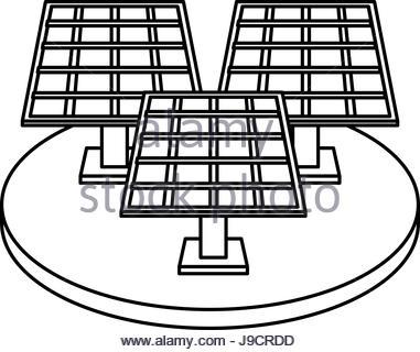 381x320 Drawn Solar Panel Renewable Energy Alternative Stock Vector Art