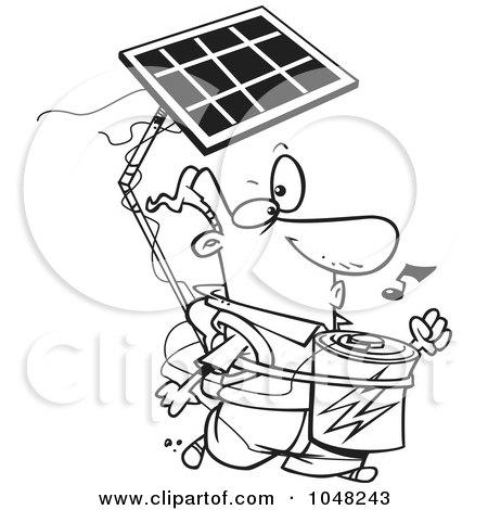 450x470 Royalty Free (Rf) Clip Art Illustration Of A Cartoon Solar Power