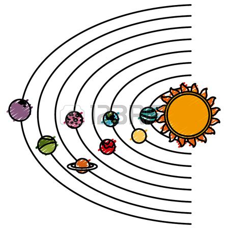 450x450 Solar System Cartoon Icon Vector Illustration Graphic Design