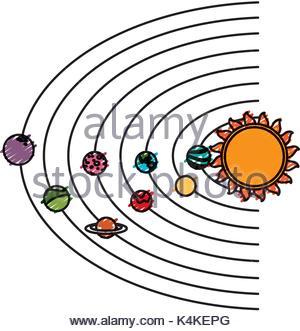 300x331 Solar System Cartoon Stock Vector Art Amp Illustration, Vector Image