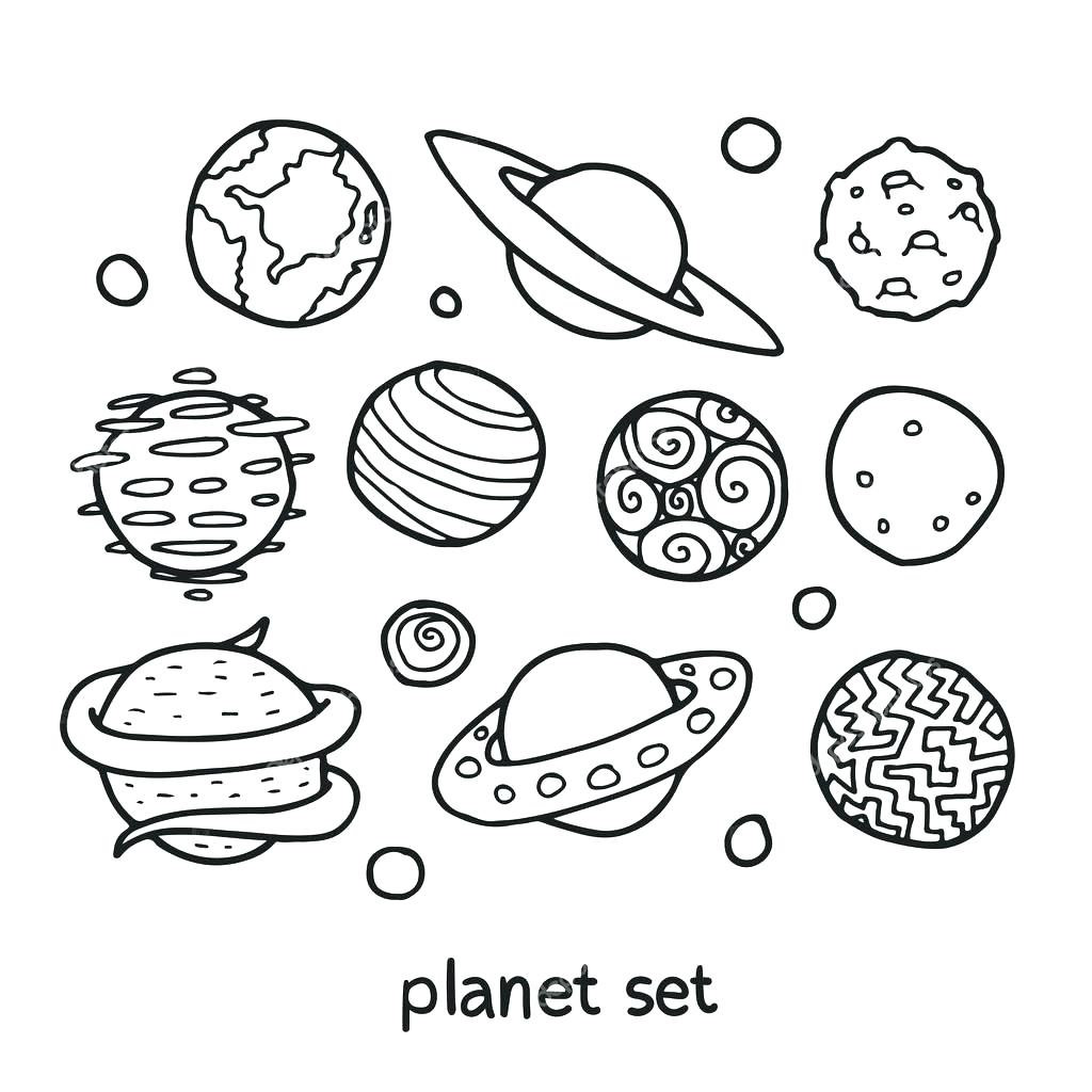 1024x1024 Coloring Coloring Pages Of Solar System Pin Drawn Planets Cute