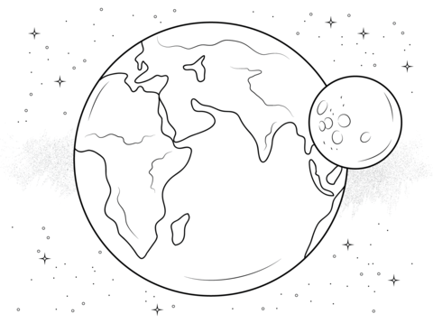 480x358 Earth And Moon Coloring Page Shepherd Summer 2016