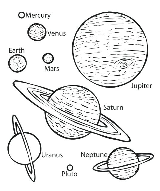 536x639 Solar System Coloring Book Coloring Pages Of Solar System Coloring