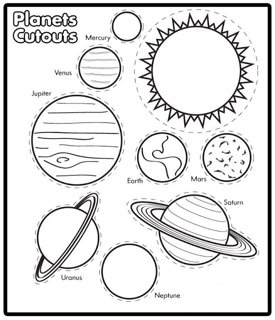 549x640 Solar System Coloring Pages