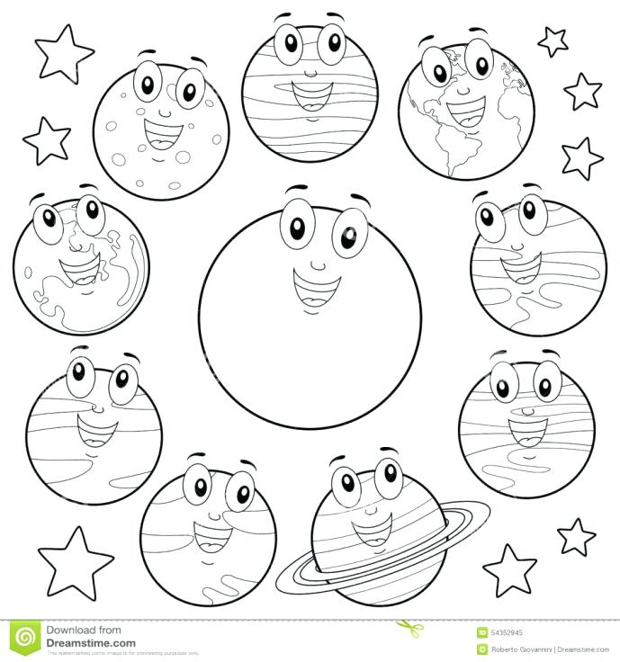 689x736 Solar System Coloring Pages Pdf Printable For Kids