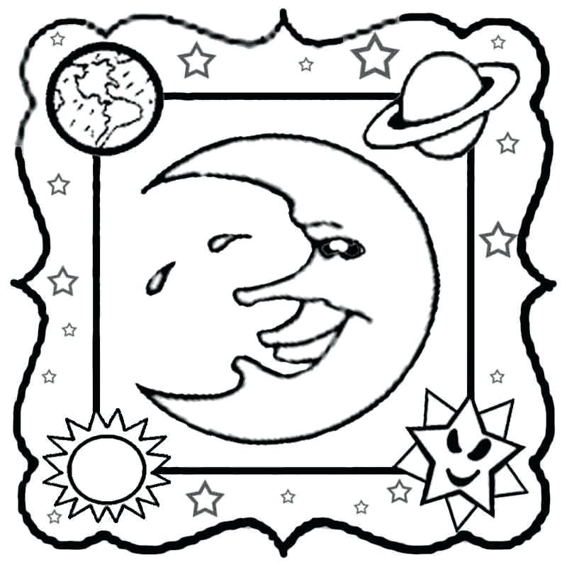 800x800 Unique Coloring Pages Solar System Print Planets Page Vector Black