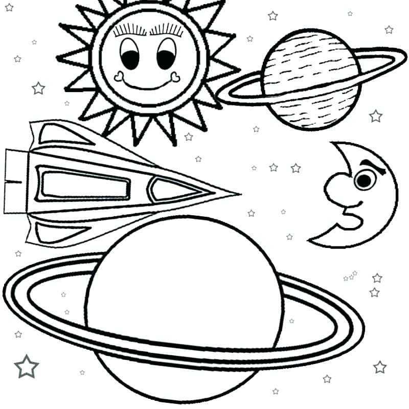 800x800 Inner Planets Coloring Pages Solar System Space Best Coloring