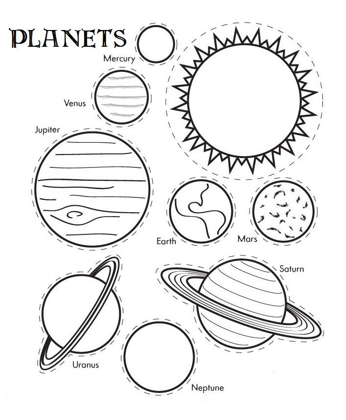 704x853 Printable Solar System Coloring Sheets For Kids! Coloring
