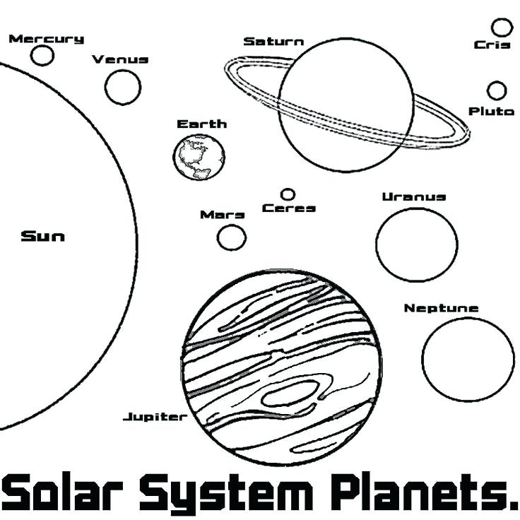 Solar System Line Drawing at GetDrawings.com | Free for personal use ...