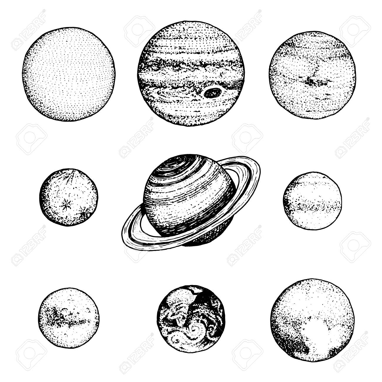 how to draw planets in our solar system
