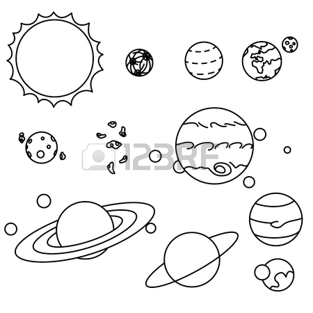 Solar System Planets Drawing At Getdrawings Free For Personal