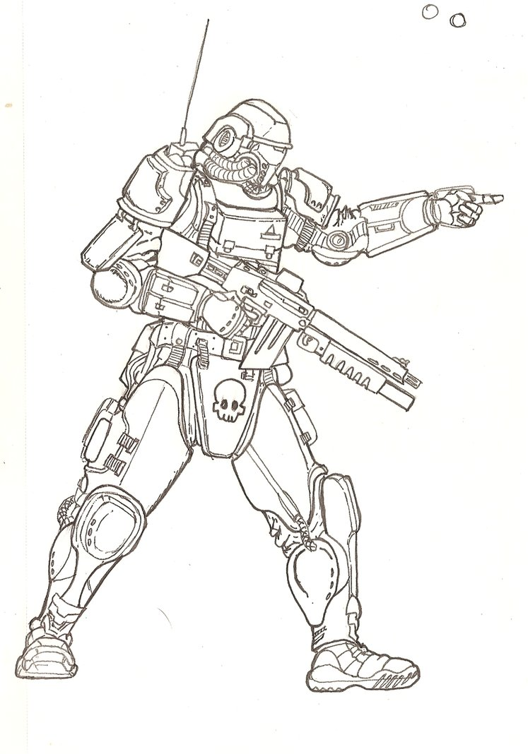 747x1068 Futuristic Soldier. By Themuffinkingxxx