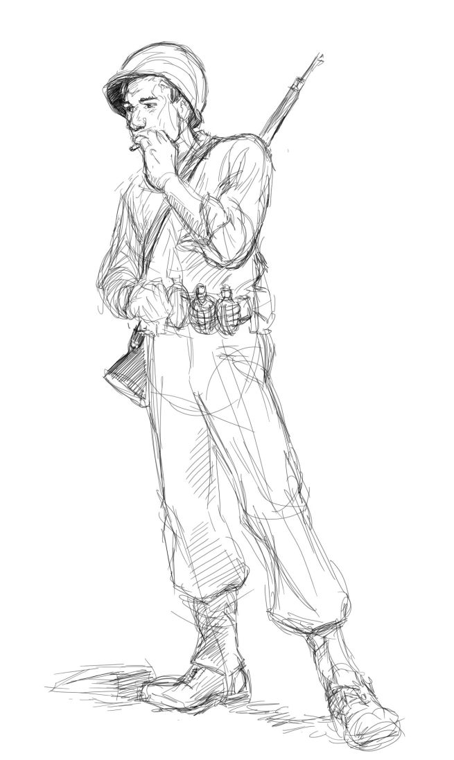 655x1097 Image Result For Soldier Drawings Sketches W Shotgun What Tom