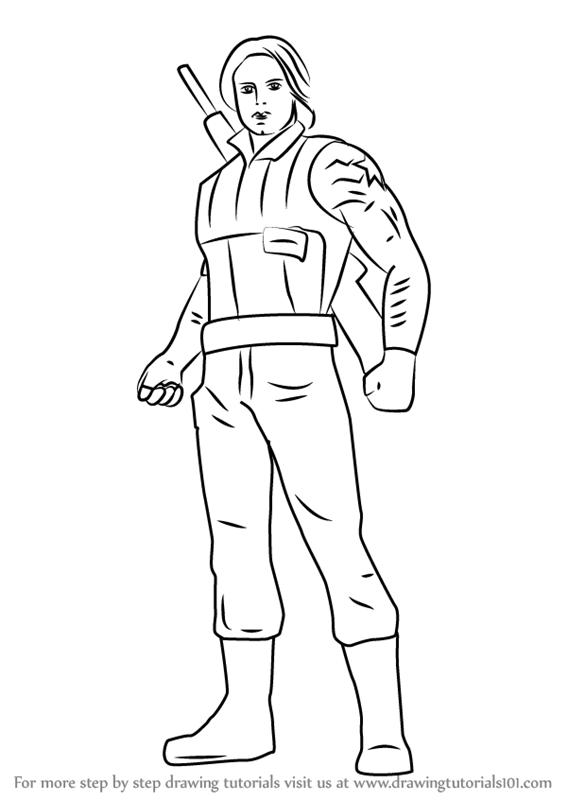 567x800 Learn How To Draw Winter Soldier From Captain America Civil War