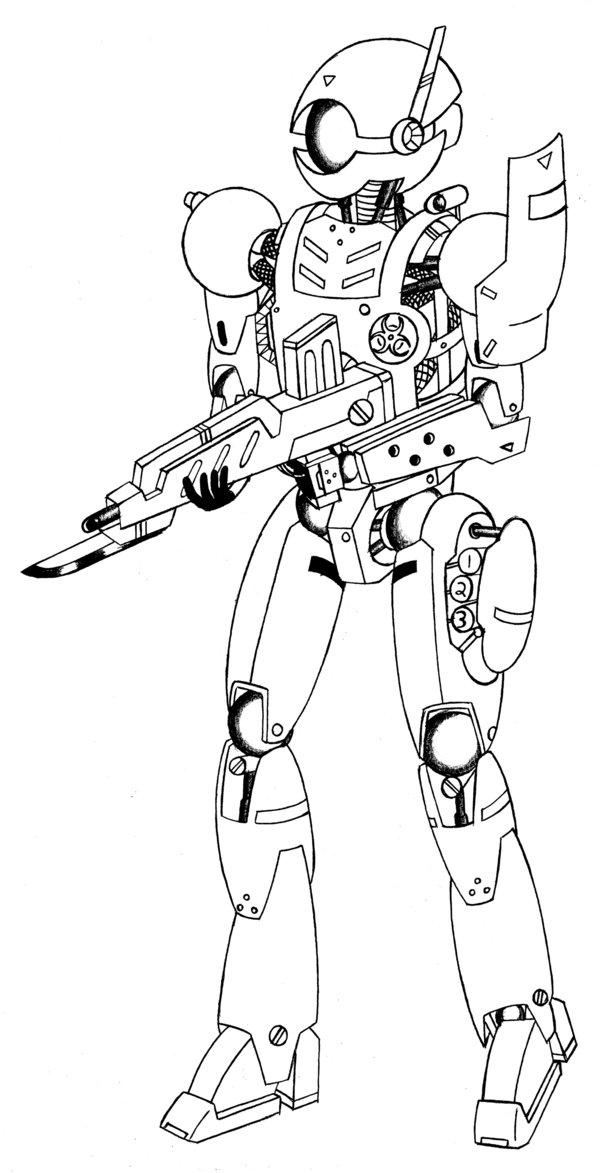 600x1173 Robot Soldier By Phantasmastriker