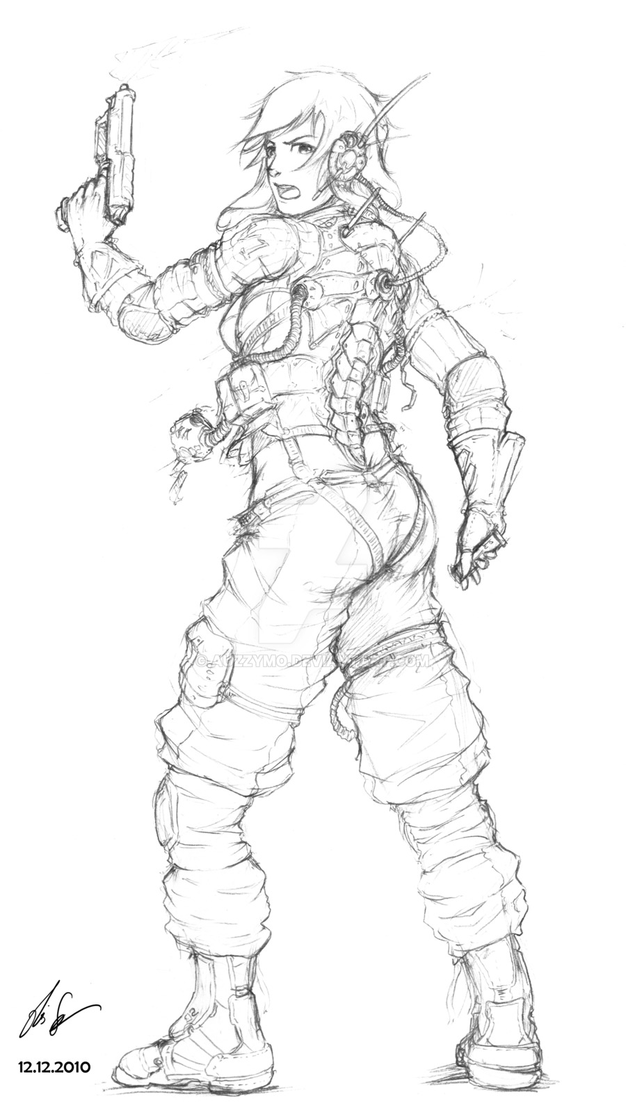 900x1600 Anime Female Soldier Drawings Anime Weapon Drawings