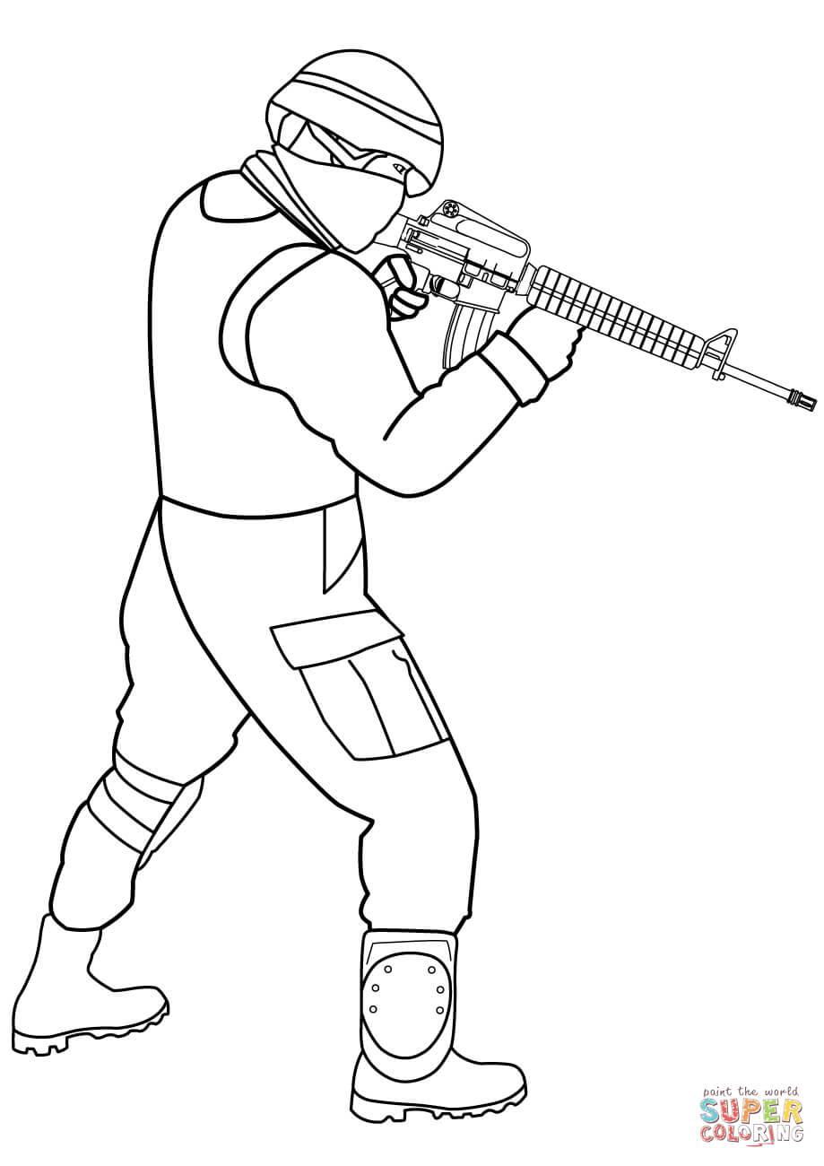 919x1300 Special Forces Soldier Coloring Page Free Printable Coloring Pages