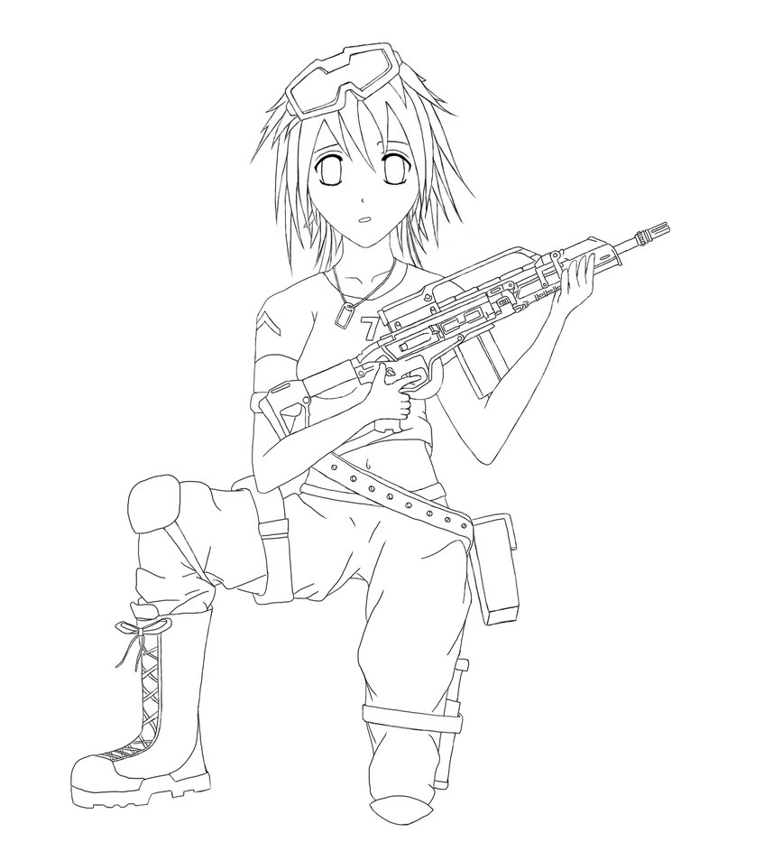 847x943 Anime Soldier Sketch By Ace Squadron