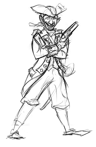 400x614 Colonial Soldier Drawings The Drawing Club