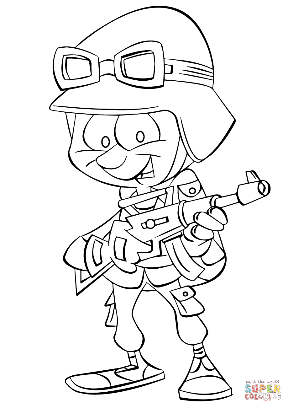 919x1300 Easy Soldier Coloring Pages Cartoon Infantry Page Free Printable