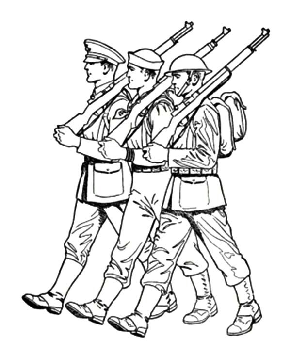 600x734 To Draw Soldier Saluting