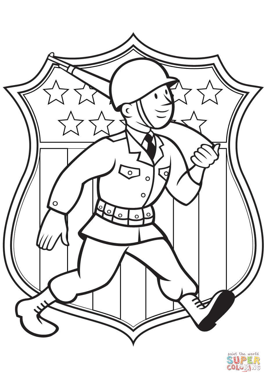 919x1300 World War 2 American Soldier Coloring Page Free Printable